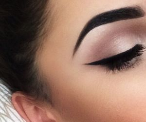 make up, colors, and eyeliner image