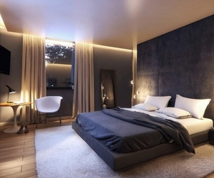bedroom and modern image