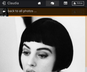 beautiful, bellucci, and black-and-white image