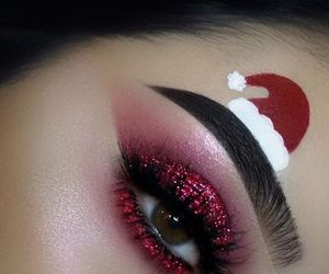christmas, makeup, and beauty image