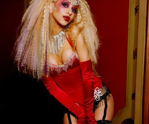 big hair, burlesque, and girl image