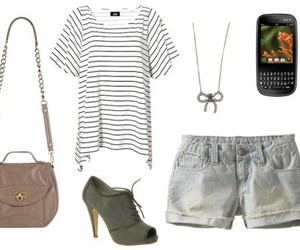 clothes, necklace, and purse image