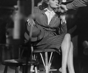 cigarette, rita hayworth, and black and white image