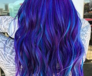 blue, colorful, and hairstyle image
