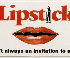 lipstick, kiss, and red image