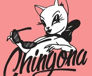 chingona, cat, and pink image