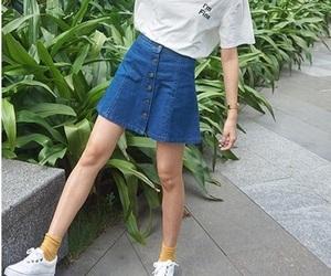 fashion, plants, and skirt image