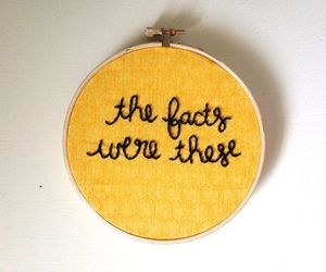 embroidery, pushing daisies, and quotes image