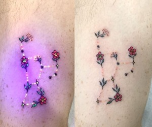 tattoo, aesthetic, and flowers image