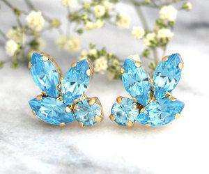 etsy, swarovski earrings, and gift for her image