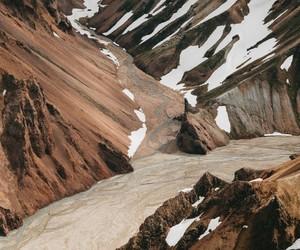 beautiful, creek, and mountains image