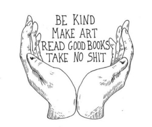 art, books, and hands image