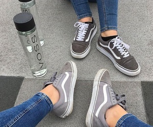 gray, shoes, and vans image