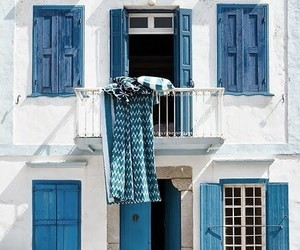 blue, house, and photography image