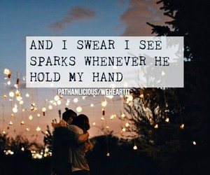 couples, hand, and quote image
