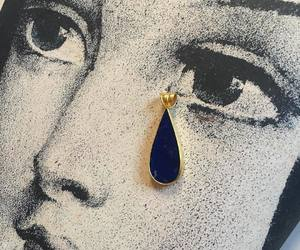 art, earring, and tear image