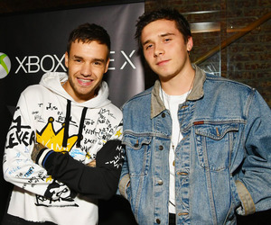 liam payne, brooklyn beckham, and one direction image