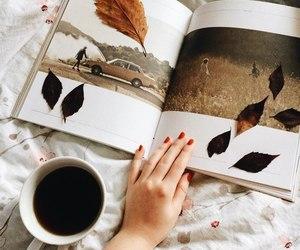 autumn, tea, and leaves image