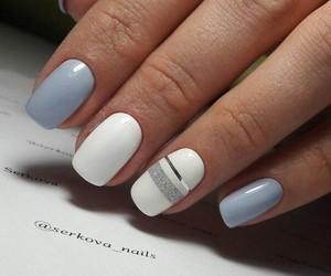 blue, short, and nails image
