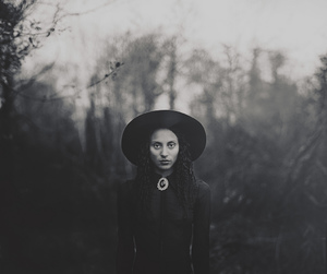 witch, black, and black and white image
