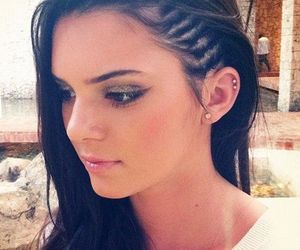 fashion, hairstyle, and kedall jenner image