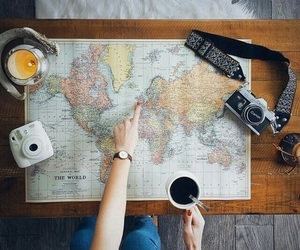 coffee, map, and drink image