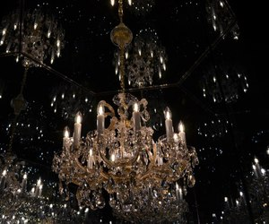 light, aesthetic, and chandelier image