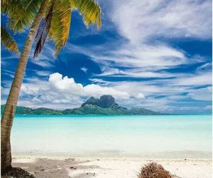 bora bora, islands, and paradise image