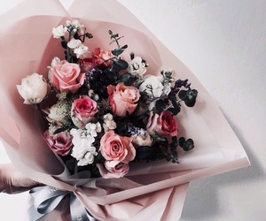 tumblr inspiration, flowers roses plants, and rose gold pink image