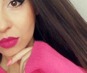makeup, pinkmakeup, and pinklips image