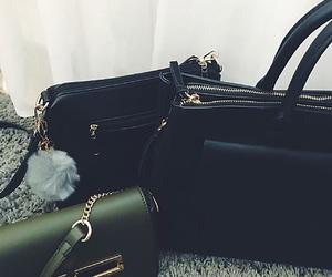 bag, black, and fall image