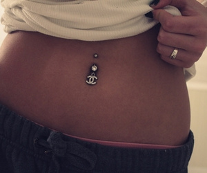 piercing, chanel, and belly image