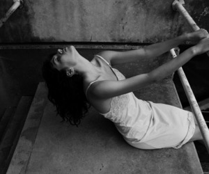 black and white, model, and lauren withrow image