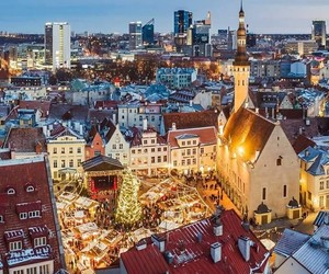 christmas, estonia, and new year image