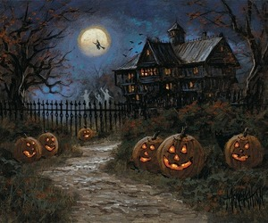 Halloween, night, and witch image