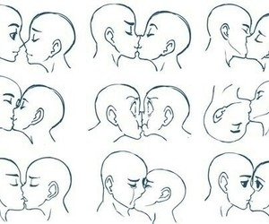 kiss, drawing, and draw image