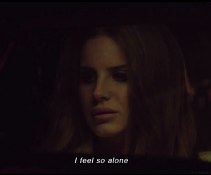 lana del rey, alone, and quotes image