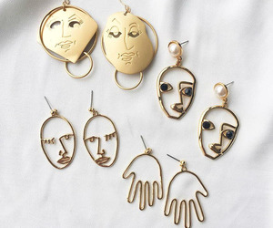 accessories, earrings, and hands image