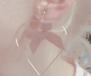 aesthetic, earring, and heart image