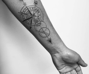 compass, instagram, and tattoo image
