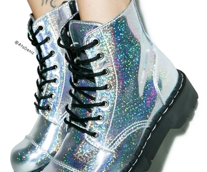 dr martens, holographic, and metallic image