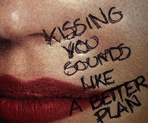 quotes, kiss, and lips image