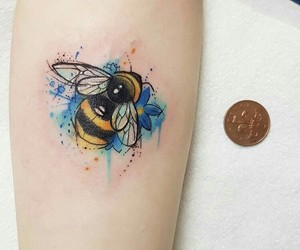 bee, tattoo, and bumblebee image