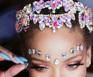 background, green hair, and rihanna image