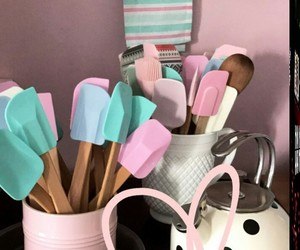 baking, blue, and pink image