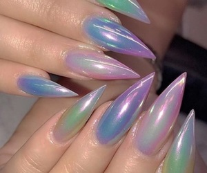nails, aesthetic, and colorful image