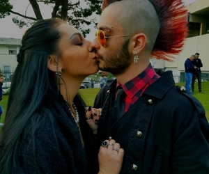 couple, punk, and kiss image