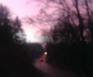 night, pink, and sky image