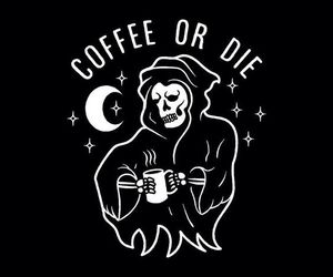 black and white, coffee, and death image