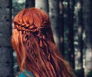 hair, fantasy, and redhead image